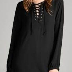 Staccato Lace-Up Blouse